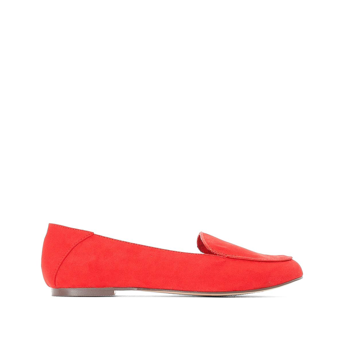 Балетки LaRedoute С кантом на плоском каблуке 36 красный балетки laredoute с завязкой вокруг щиколотки на плоском каблуке 37 розовый