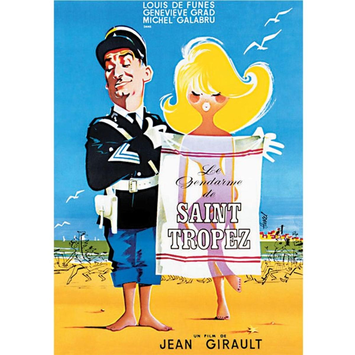 Affiche ancienne Le gendarme de Saint Tropez