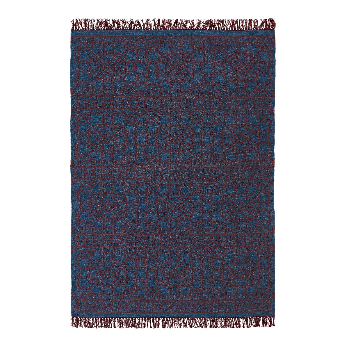 Ковер килим с горизонтальным плетением из шерсти, Huzuro ковер в берберском стиле из шерсти tekouma