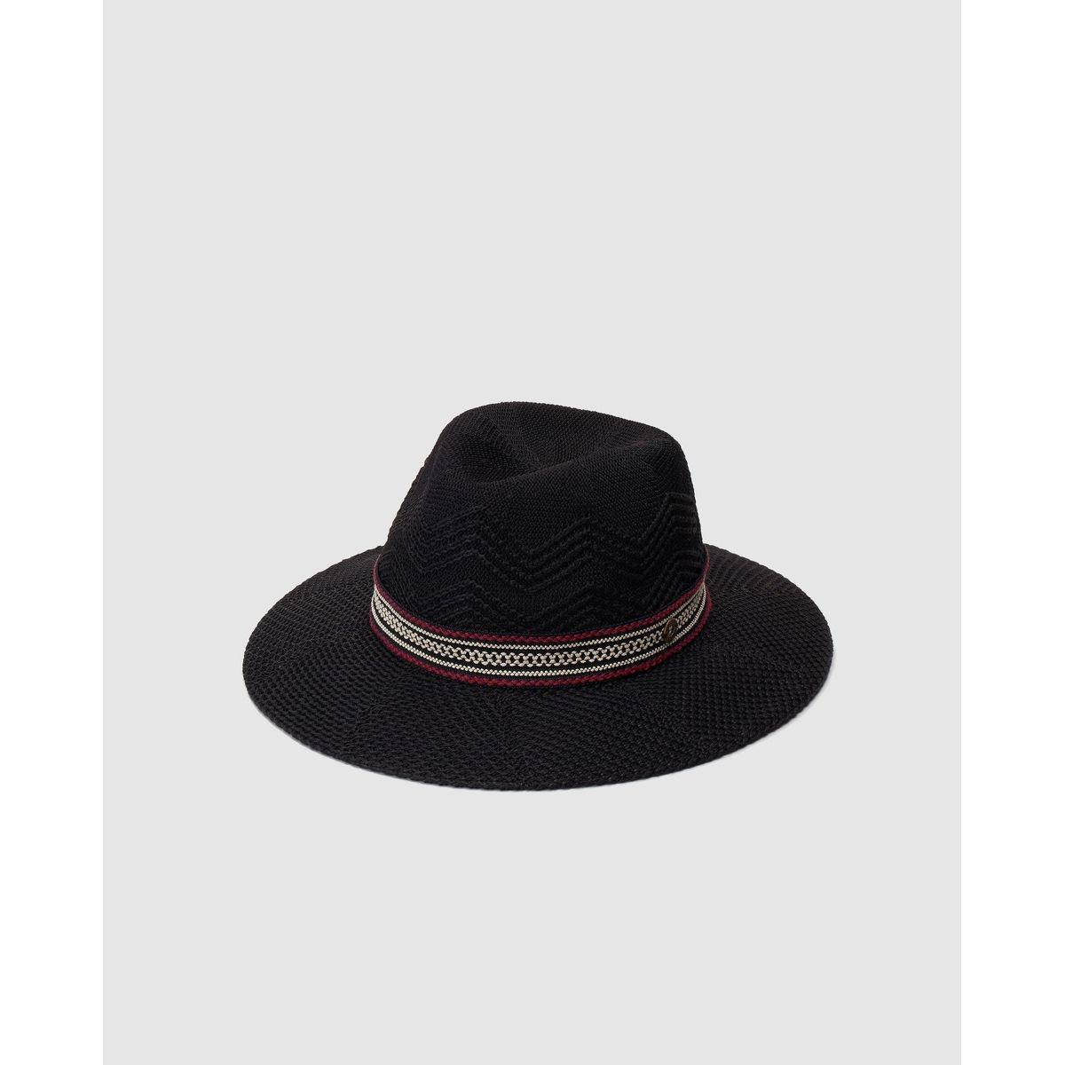 Chapeau fedora  à ruban contrastant