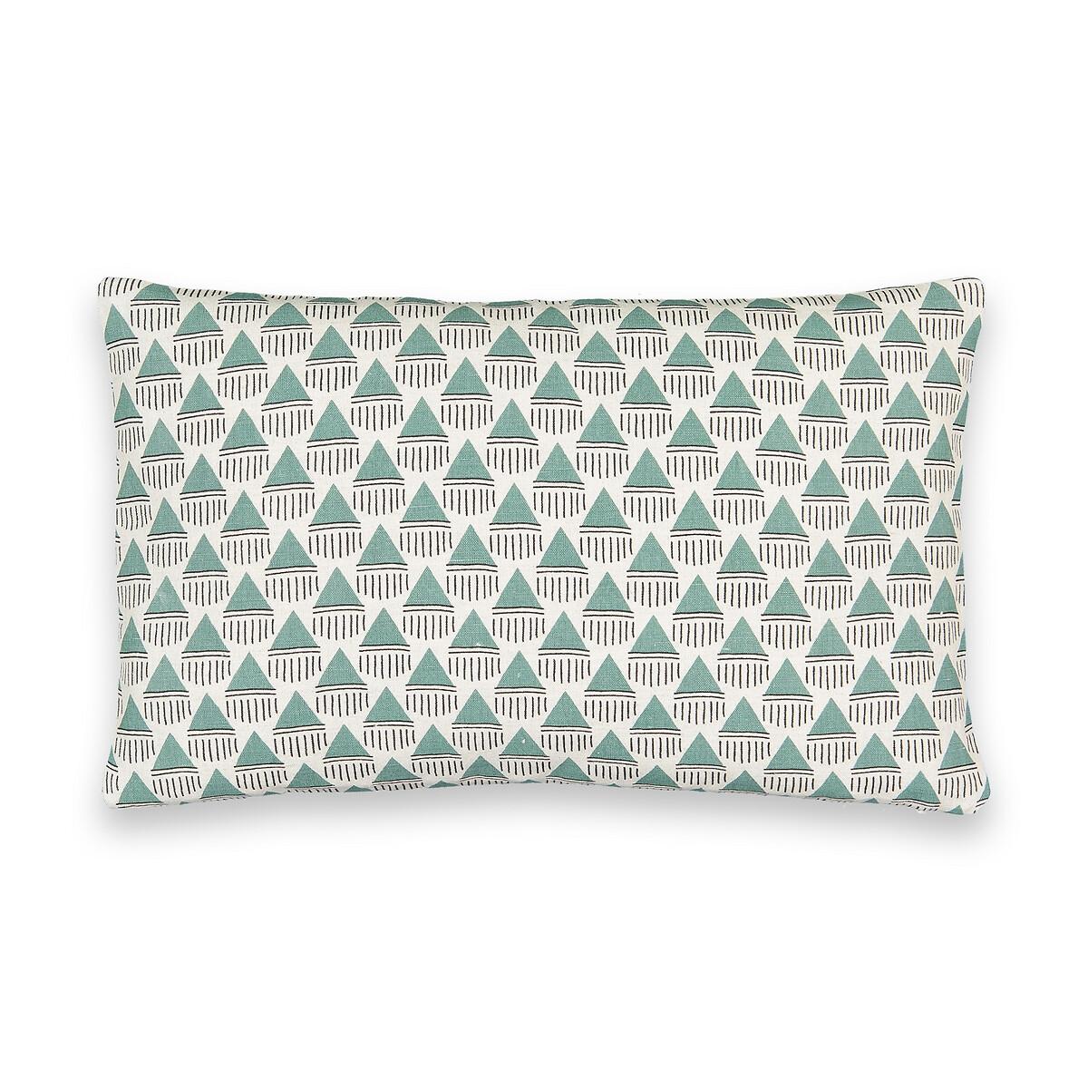 Чехол LaRedoute На подушку Evergreen 50 x 30 см зеленый