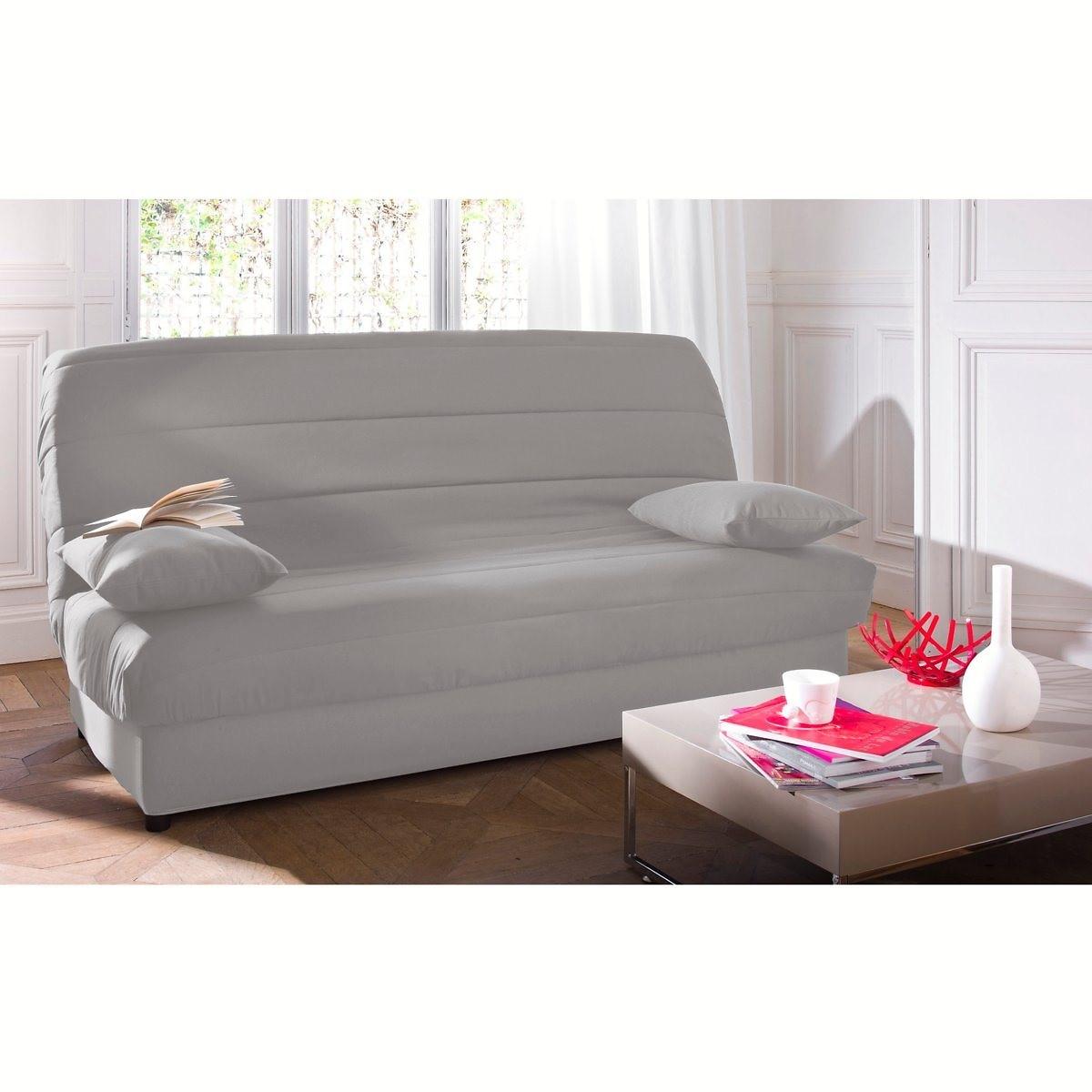 Чехол LaRedoute Стеганый из поликоттона для раскладного дивана ASARET единый размер серый
