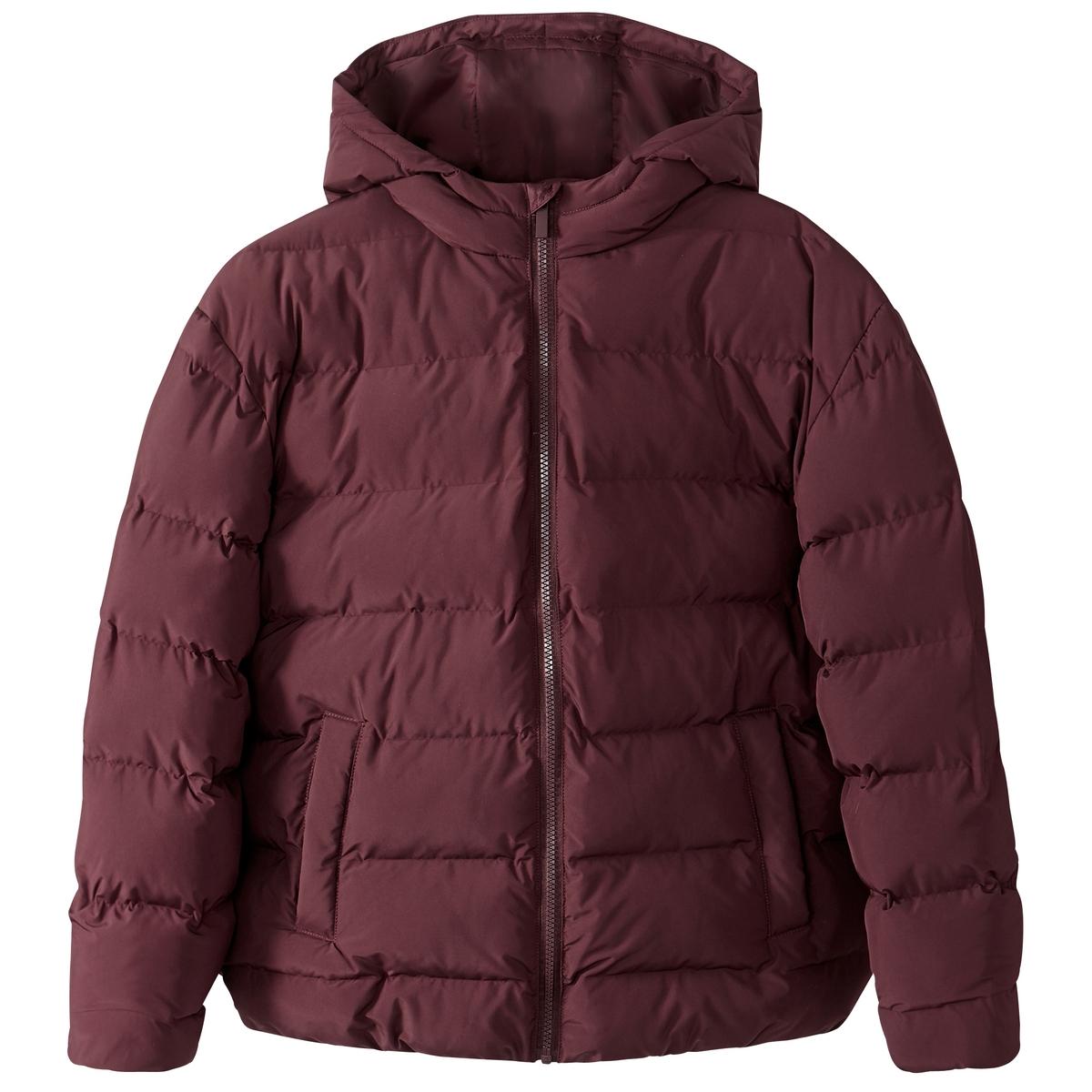 Куртка с капюшоном покроя оверсайзОписание:Теплая и удобная стеганая куртка возвращается этой зимой, чтобы вы выглядели стильно и не ощущали холодов .Детали •  Длина : укороченная   •  Круглый вырез •  Застежка на молнию •  С капюшономСостав и уход •  100% полиэстер •  Подкладка : 100% полиэстер •  Наполнитель : 100% полиэстер • Не стирать •  Деликатная чистка/без отбеливателей •  Не использовать барабанную сушку   •  Не гладить •  Длина : 65 см<br><br>Цвет: бордовый,темно-синий<br>Размер: 52 (FR) - 58 (RUS).50 (FR) - 56 (RUS).44 (FR) - 50 (RUS).42 (FR) - 48 (RUS).40 (FR) - 46 (RUS)