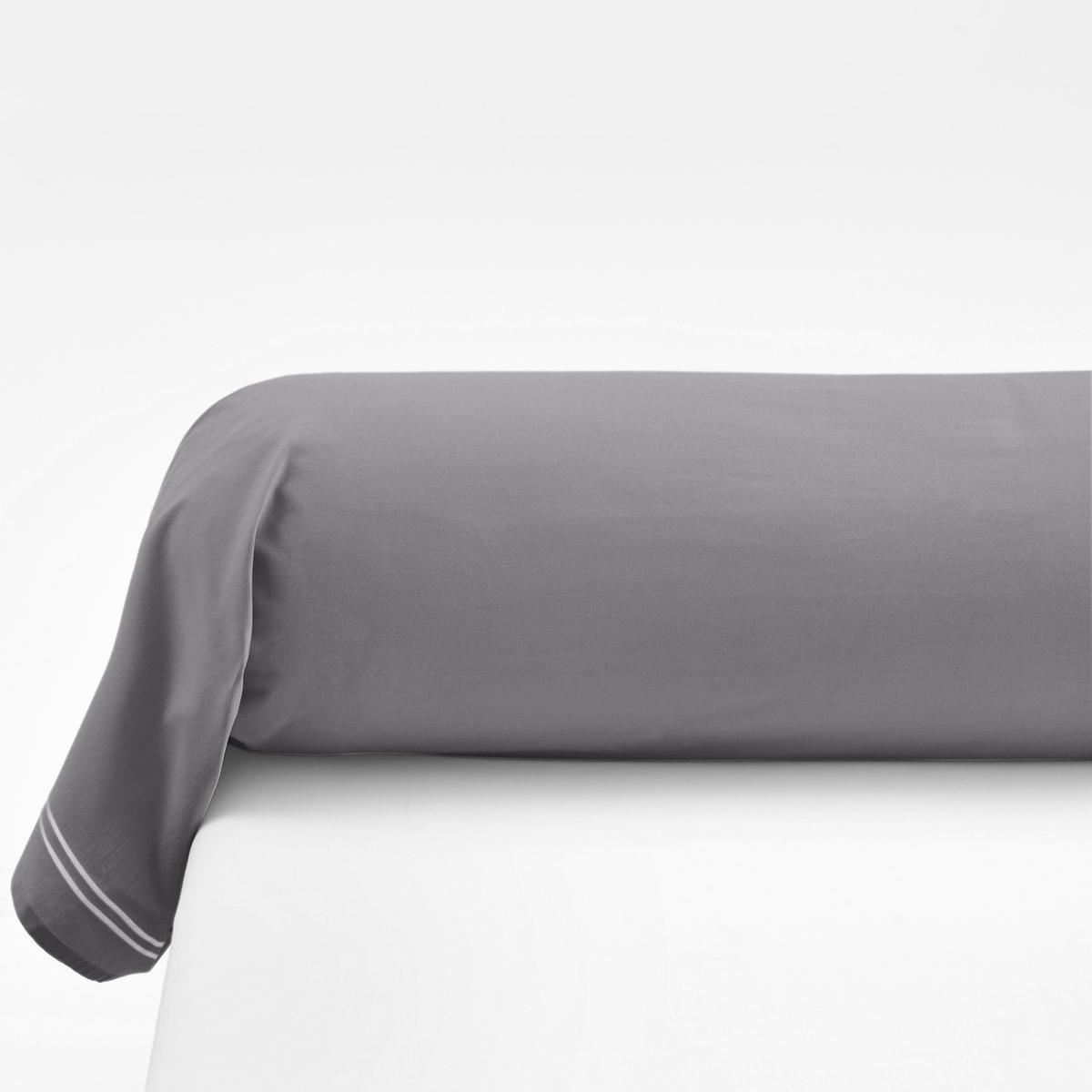 Наволочка на подушку-валик из хлопковой перкали, PalacePalace :Постельное белье, сочетающее простоту и шик двойного контрастного канта светло-серого цвета на однотонном белом или сером фоне  .Характеристики наволочек на подушку-валик Palace : - Перкаль, 100% хлопка - настоящий люкс для вашей спальни. Роскошная ткань с очень плотным переплетением нитей (80 нитей/см?), сотканная из длинных хлопковых волокон   . Чем плотнее переплетение нитей/см?, тем выше качество материала.На подушку-валик: двойной кант по краям  .- Машинная стирка при 60°, легко гладить..Знак Oeko-Tex® гарантирует отсутствие вредных для здоровья человека веществ в протестированных и сертифицированных изделиях.Размеры :85 x 185 см : Наволочка на подушку-валик   .Найдите комплект постельного белья по названию Palace<br><br>Цвет: серый/розовая пудра,темно-серый,темно-синий/серый