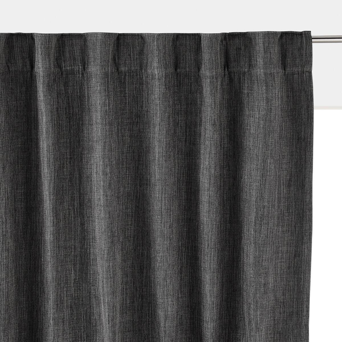 Занавеска LaRedoute Затемняющая термическая Exurie 350 x 140 см серый