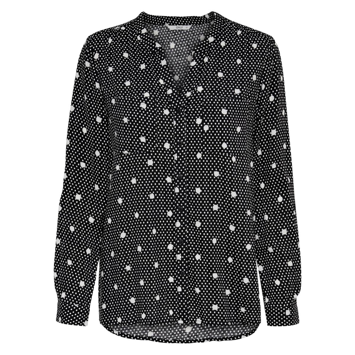 Блузка La Redoute С рисунком и воротником-стойкой 34 (FR) - 40 (RUS) черный платье la redoute длинное с цветочным рисунком и напускным эффектом 34 fr 40 rus черный