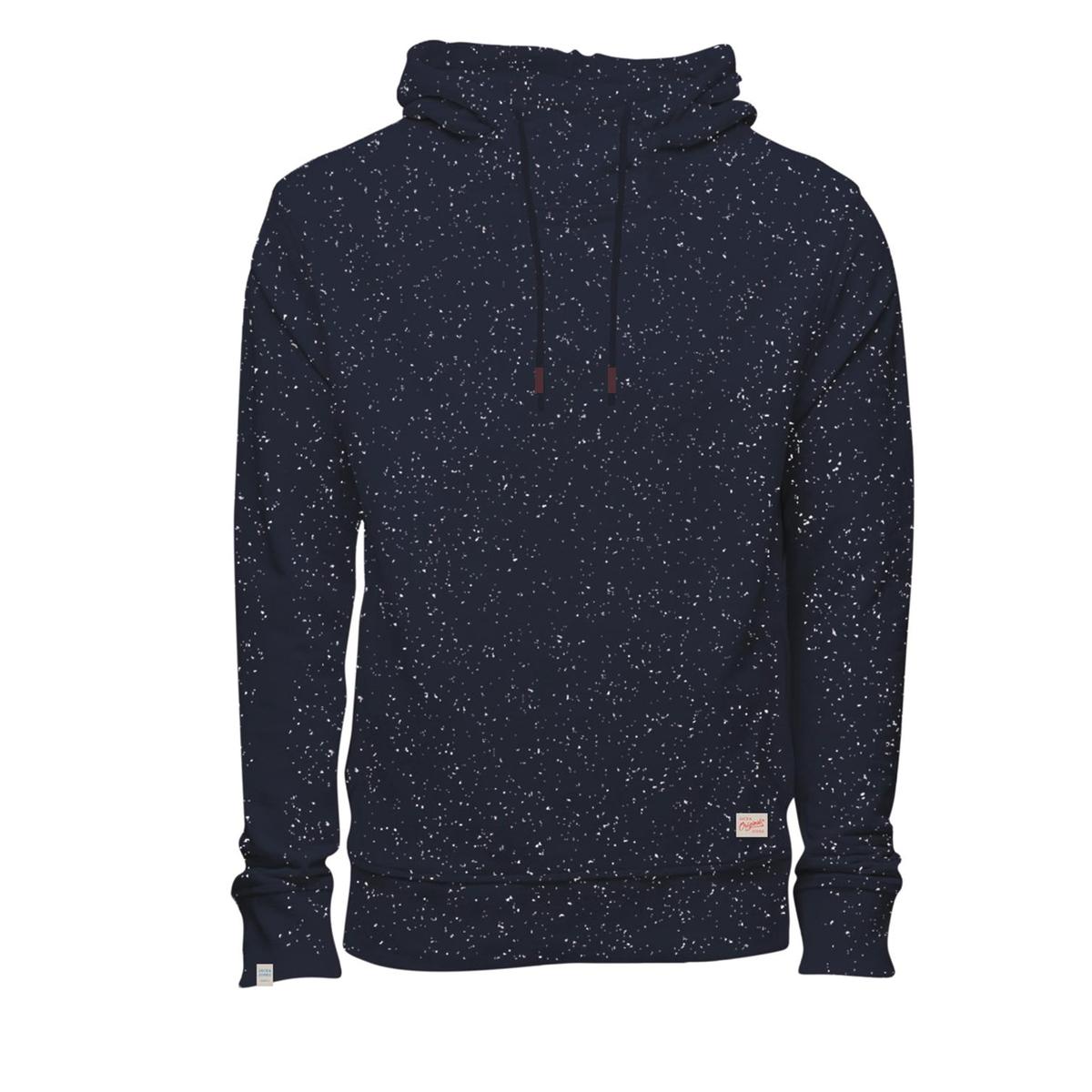 Пуловер с капюшономСостав и описание :Материал : 100% хлопокМарка : JACK &amp; JONES<br><br>Цвет: синий морской<br>Размер: S
