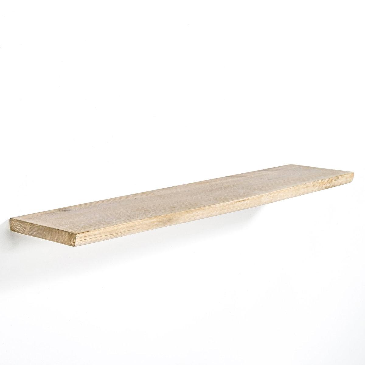 Полка настенная EDWIN из массива дубаНебрежный, естественный стиль. Имитирует крону дерева.Характеристики:- Из массива дуба, естественная отделка, пропитка воском. - Невидимые крепления. Размеры: - Длина 100 см x глубина 22 см x глубина 3 см.<br><br>Цвет: натуральный дуб<br>Размер: единый размер