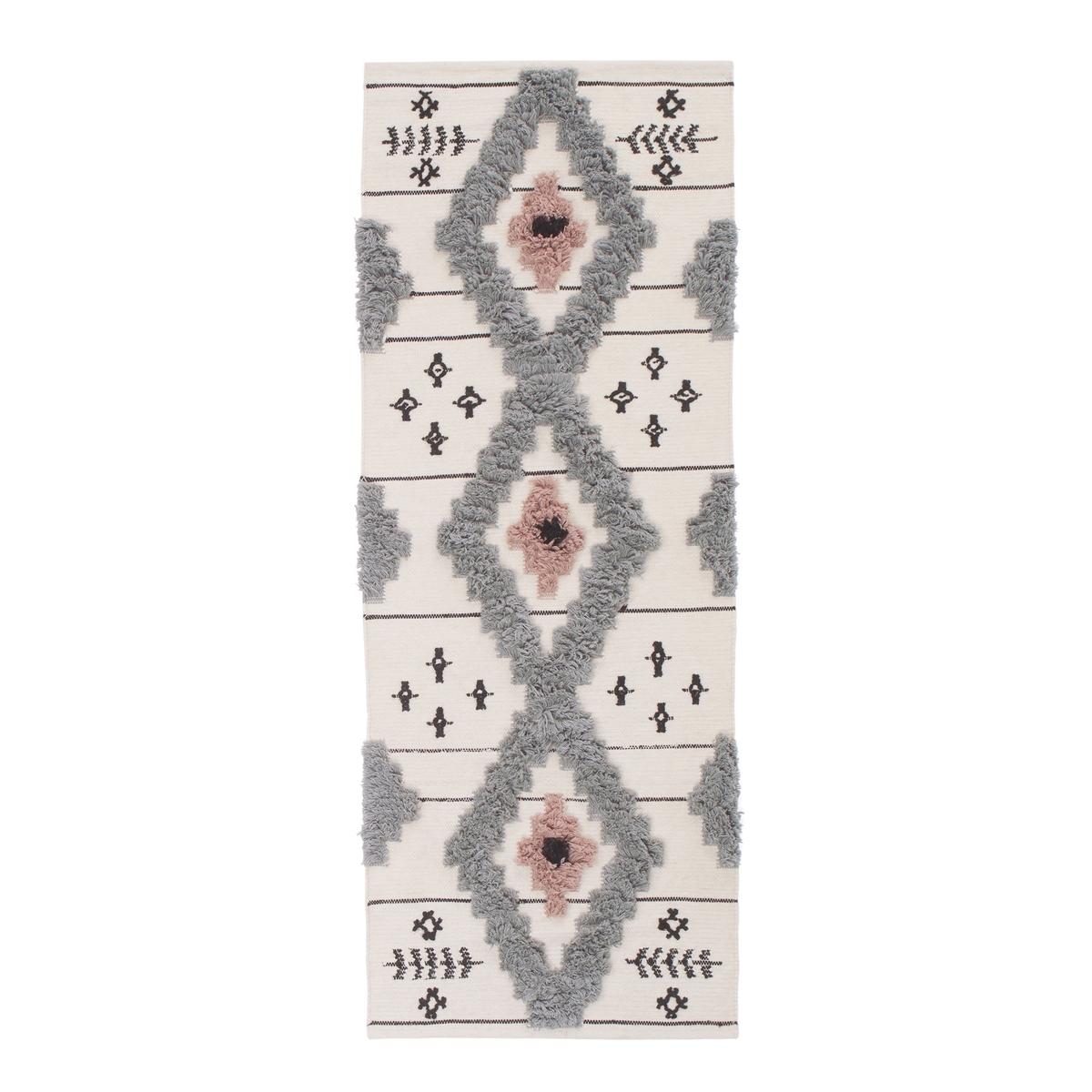 Ковер La Redoute В коридор в берберском стиле MELINES единый размер серый ковер la redoute в берберском стиле из шерсти tekouma 120 x 180 см бежевый