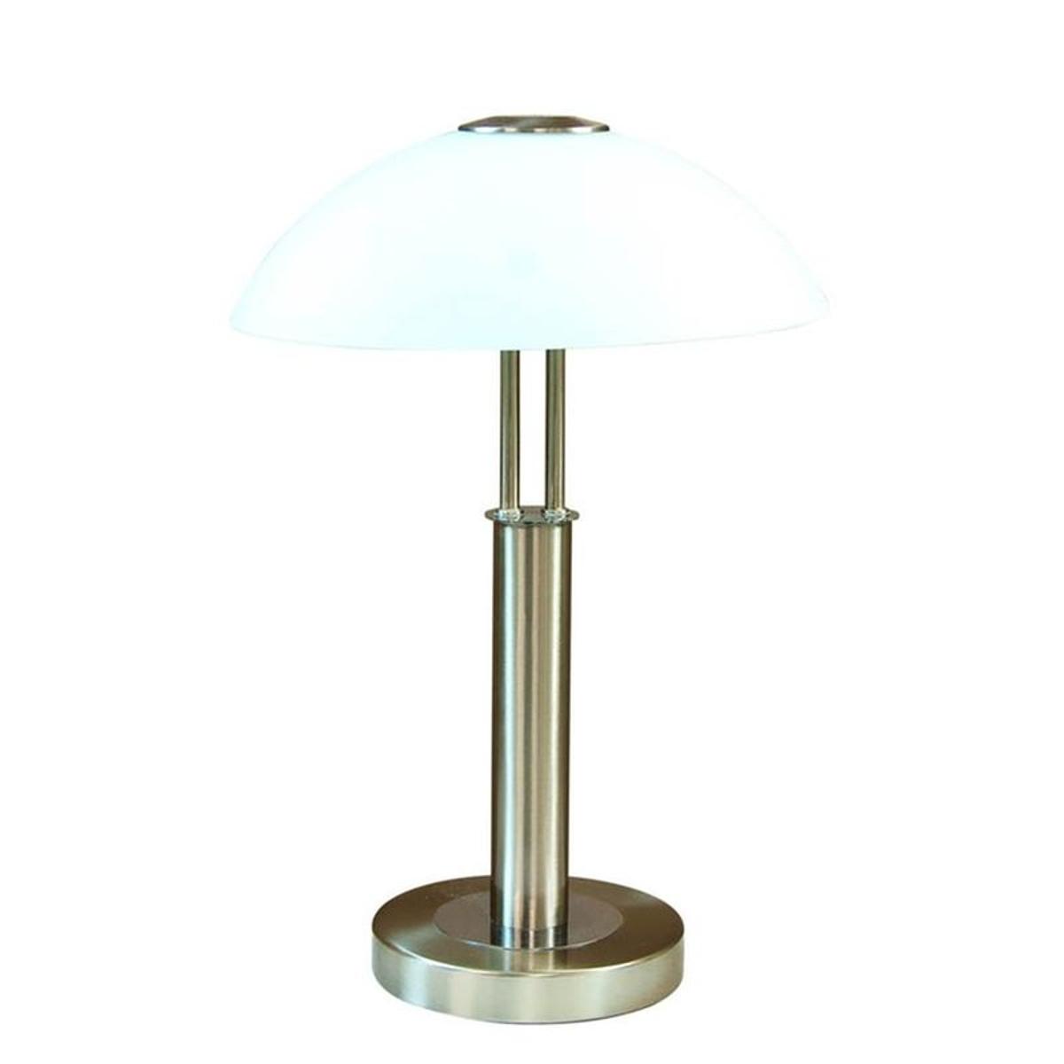 Lampe tactile step dimmer PRESCOT argentée en métal