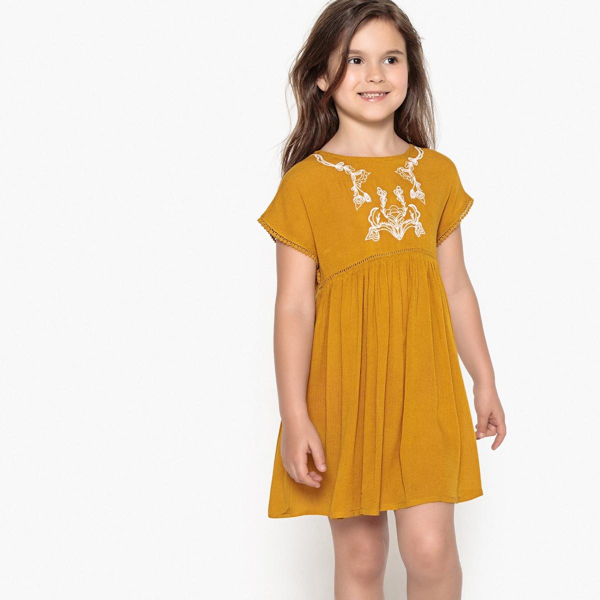 Платье с вышивкой 3-12 лет от La Redoute Collections