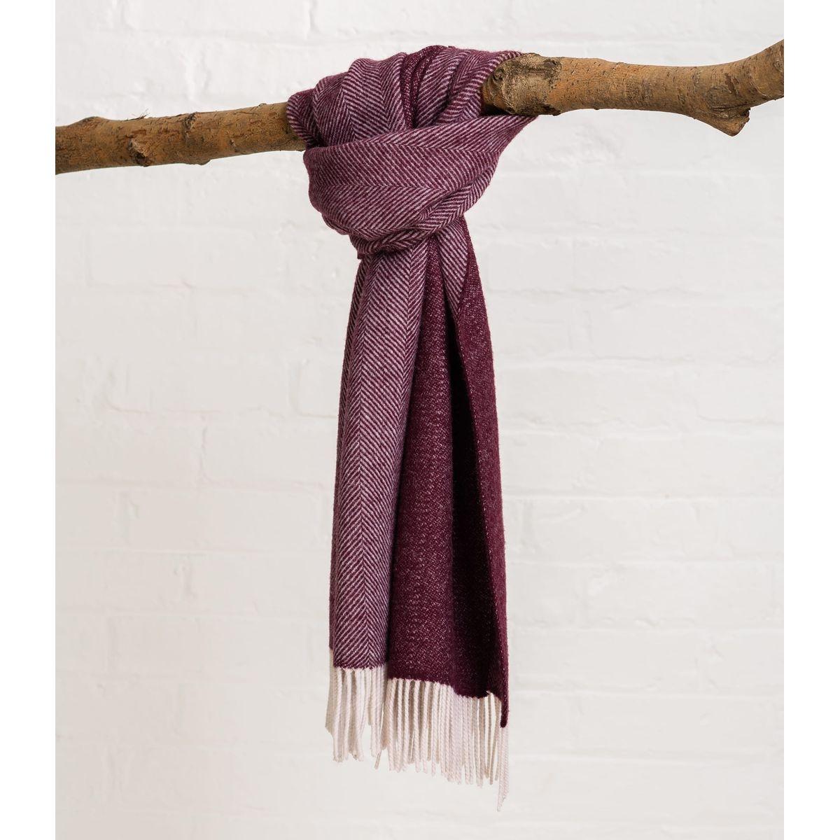 Écharpe à motif chevrons pure laine
