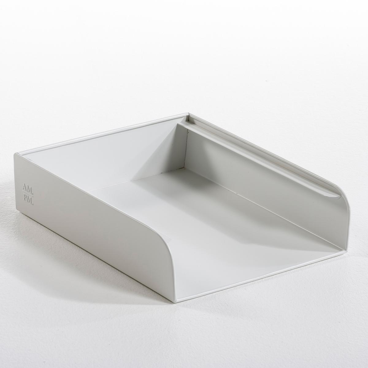 Органайзер для бумагОрганайзер для бумаг Arreglo. Новая коллекция декора с закругленными углами балансирует на грани современности и стиля ретро. Гамма из 7 цветов, легко сочетающихся между собой. Из гаванизированного металла или с матовым эпоксидным покрытием. Рельефный логотип AM.PM. Размер: ширина 26,5 х глубина 32,5 х высота 7,5 см.<br><br>Цвет: белый,горчичный,серо-зеленый,серый<br>Размер: единый размер