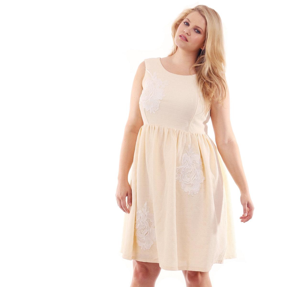 ПлатьеПлатье однотонное с орнаментом LOVEDROBE, без рукава, длина ок.94 см . 100% полиэстер<br><br>Цвет: желтый