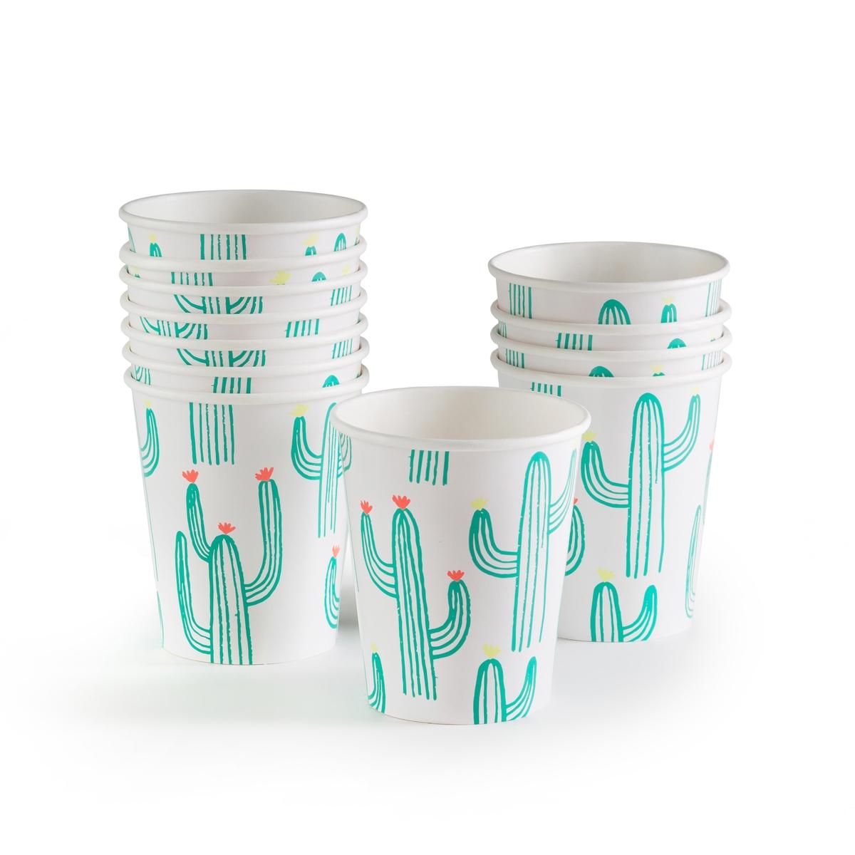 Стаканы картонные с рисунком кактус FAVIENE (12 шт.)Описание:Комплект из 12 картонных стаканов La Redoute Interieurs : забавный рисунок кактус.Характеристики 12 стаканов: •  Картон с рисунком кактус •  Одноразовые стаканыРазмеры 12 стаканов: •  Высота 9,5 смВсю коллекцию столового декора вы найдете на сайте laredoute.<br><br>Цвет: принт кактус