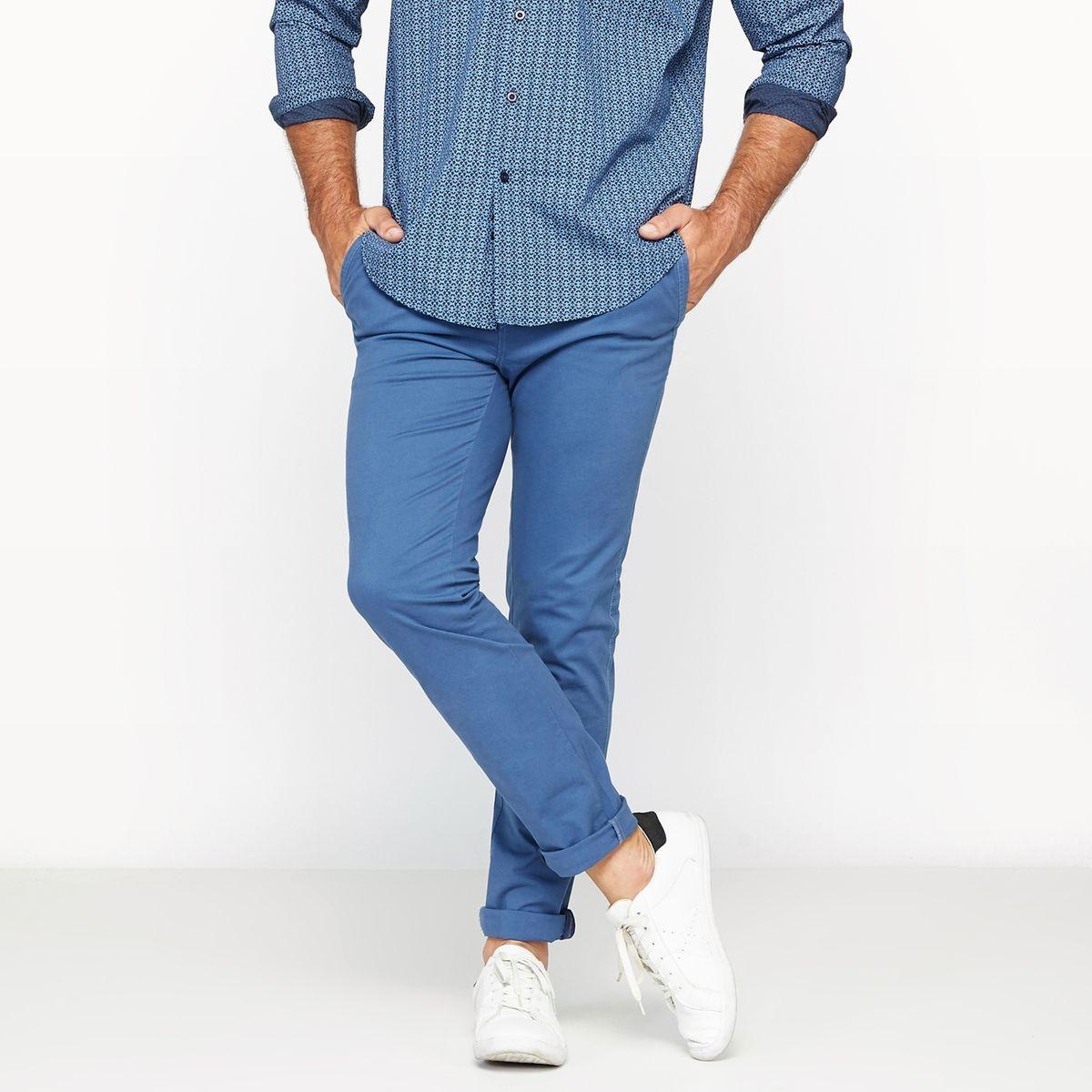 Pantalon chino stretch coupe ajustée