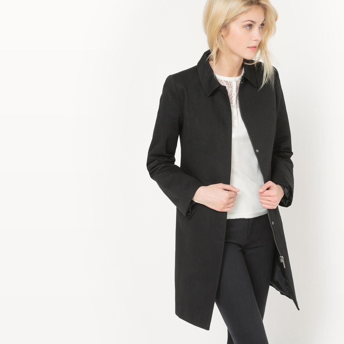 Пальто средней длины, хлопковое