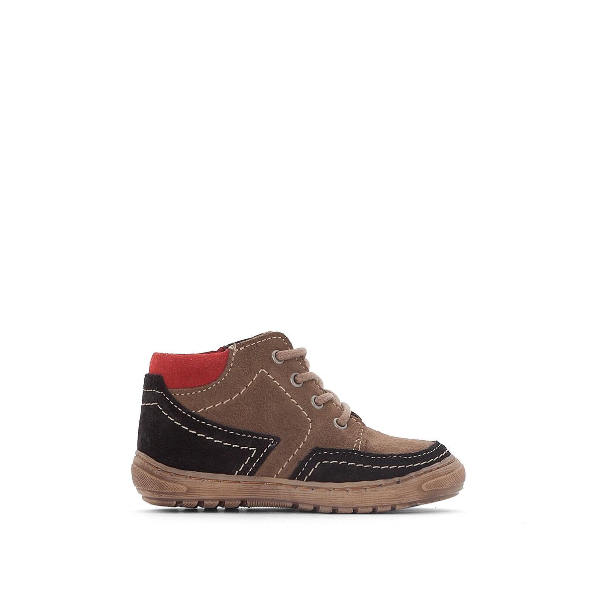 Ботинки кожаные на удобной подошве 19-25Описание:Детали •  Застежка : шнуровка •  Круглый мысокСостав и уход •  Верх 100% кожа •  Подкладка 100% кожа •  Сделано в Португалии<br><br>Цвет: серо-коричневый/ черный<br>Размер: 25.24.23.22