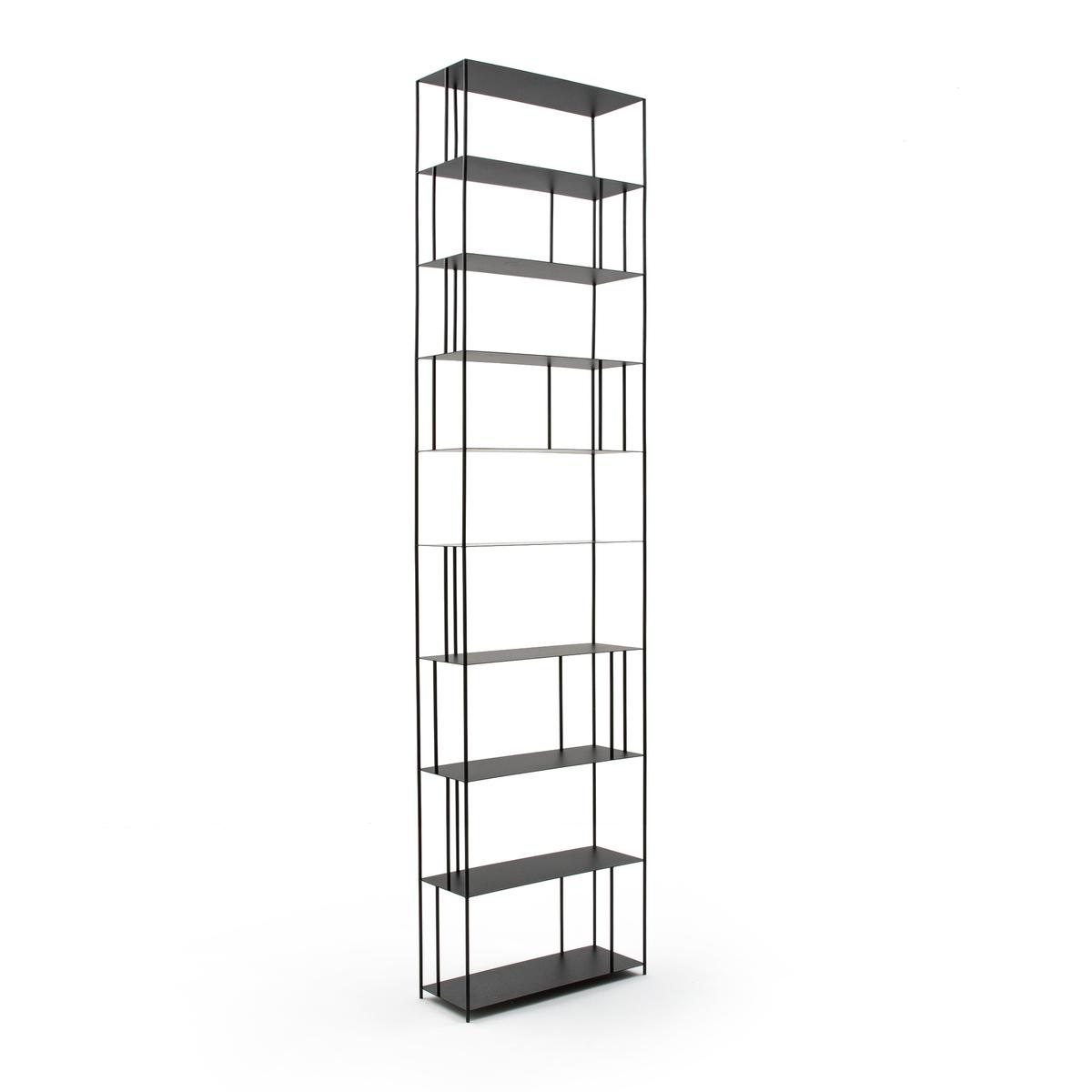 Шкаф LaRedoute Книжный из металла Выс320 см Parallel XXL единый размер черный
