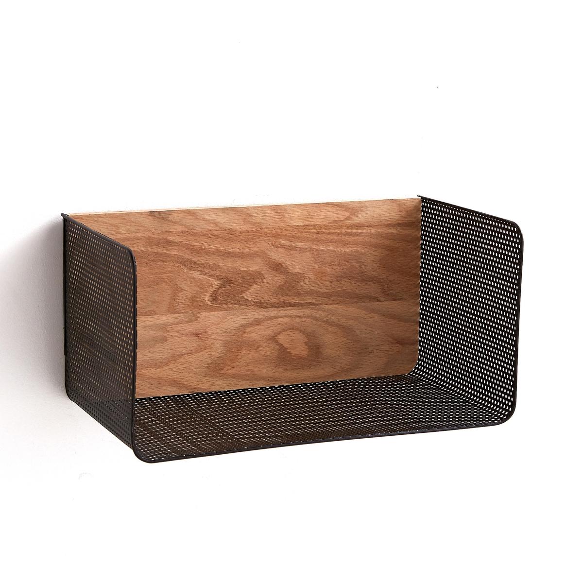 Этажерка Ordonato для рабочего кабинетаЭтажерка Ordonato для рабочего кабинета. Элегантное сочетание неокрашенного дуба и черного металла. Крепится на стену для хранения книг и документов.Характеристики :- Из дуба - Корзина из ажурного металлаРазмеры :- Ш40 x В20 x Г22 см Полная коллекция Ordonato для организации рабочего пространства на сайте ampm.ru<br><br>Цвет: металл черный/дуб