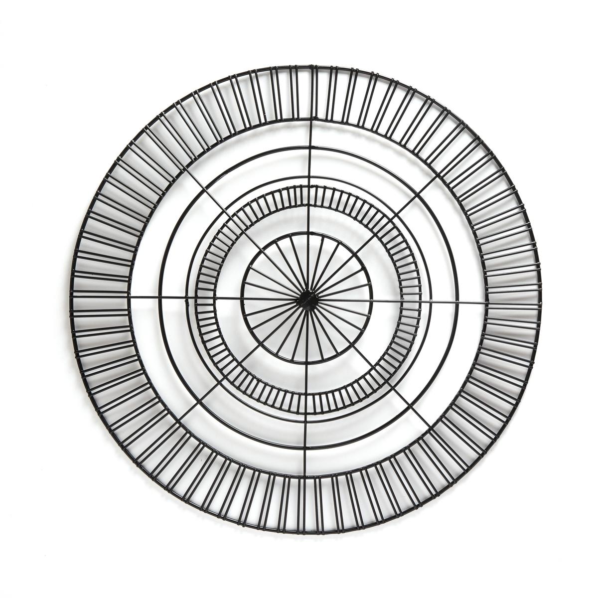 Декор La Redoute Настенный из проволоки CERDA единый размер черный металлическая la redoute тумба hypnos единый размер черный