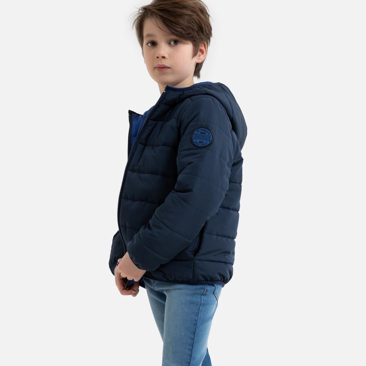 Куртка La Redoute Стеганая тонкая двусторонняя демисезонная модель 5 лет - 108 см синий