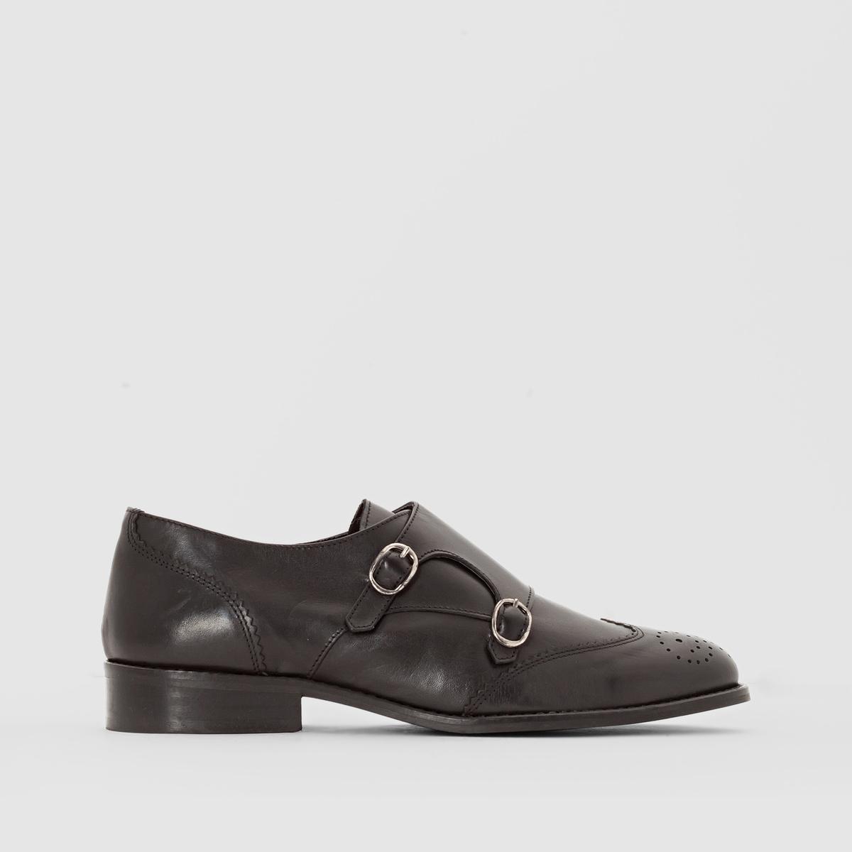Ботинки-дерби кожаные с пряжками от La Redoute Collections