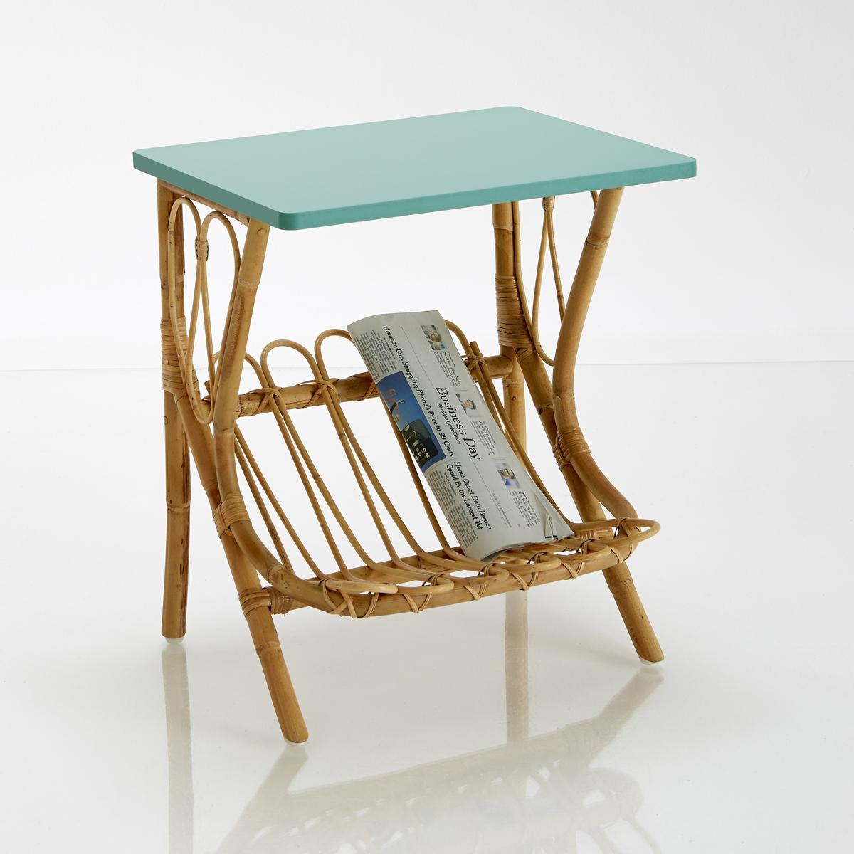 Ночной столик из ротанга, KokНочной столик из ротанга, Kok : качество, прочность и долговечность - вот преимущества этого ночного столика из натурального ротанга с лакированной столешницей : этот ночной столик может также использоваться с диваном благодаря отделению для журналов и декоративному дизайну в стиле ретро !Характеристики ночного столика Kok :Каркас из натурального ротангаСтолешница из МДФ, покрытого акриловым лаком.Пластиковые вставки под ножкамиПроизведено вручнуюОткройте для себя всю коллекцию мебели из натурального ротанга на сайте laredoute.ruРазмеры ночного столика Kok :Длина : 47 смВысота : 52 смГлубина : 37 смРазмеры и вес упаковки :1 упаковкаШир. 60 x Выс. 50 x Гл. 45 см4,5 кгДоставка :Ночной столик Kok продается в разобранном виде. Он доставляется на дом по предварительной заявке, даже до квартиры !Внимание ! Убедитесь, что посылку возможно доставить на дом, учитывая ее габариты.<br><br>Цвет: зеленый сине-зеленый