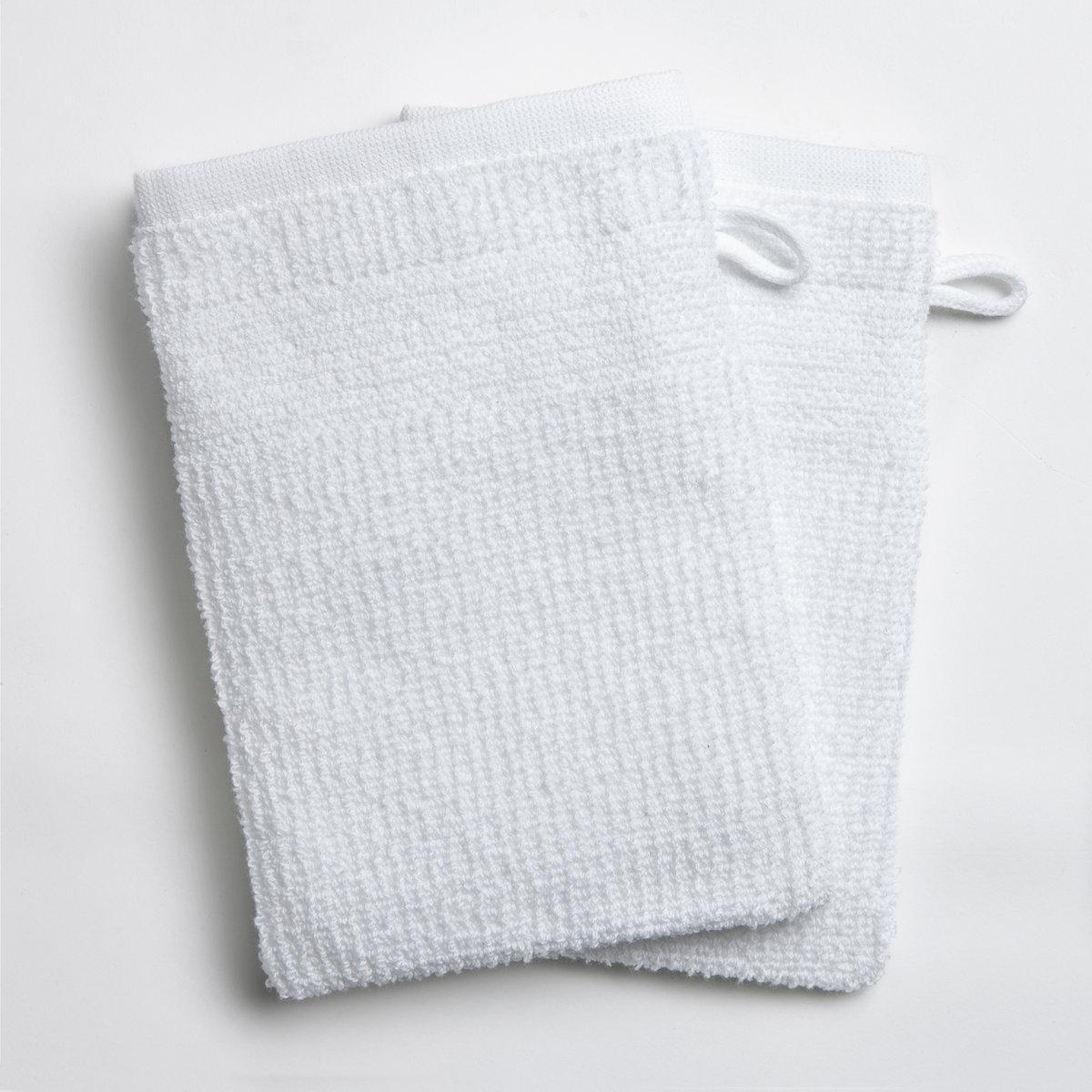 2 рукавицы банных из плетёной ткани рисовое зерно 400 г/м²