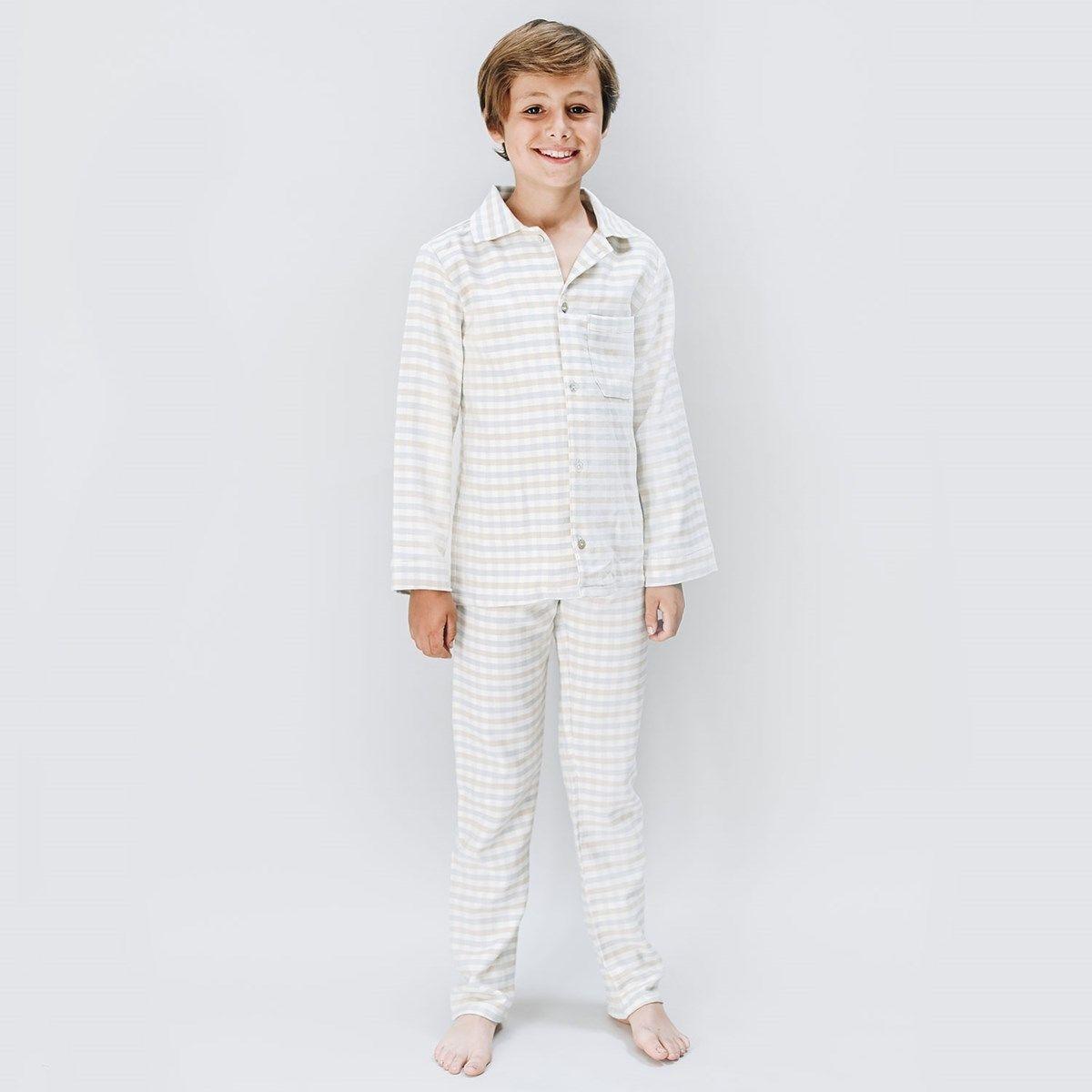 Pyjama en coton et taille élastiquée