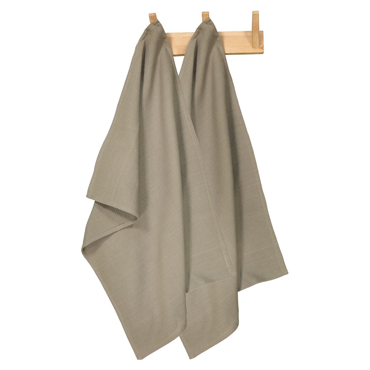Комплект из 2 полотенец из вафельной ткани полотенца кухонные la pastel комплект кухонных полотенец gabel 6пр 50x70 primizie