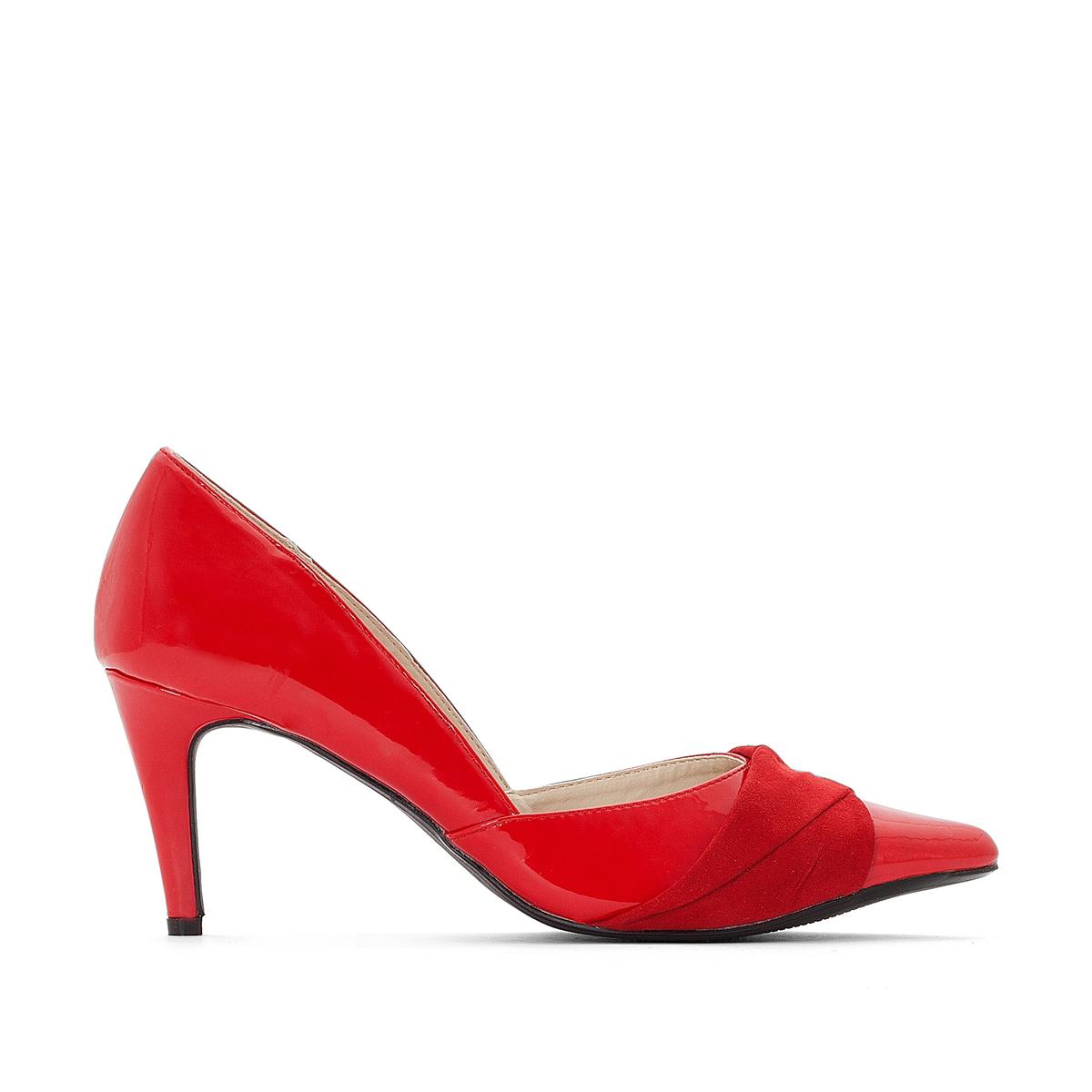 Туфли La Redoute Из двух материалов 39 красный ботильоны из двух материалов bady