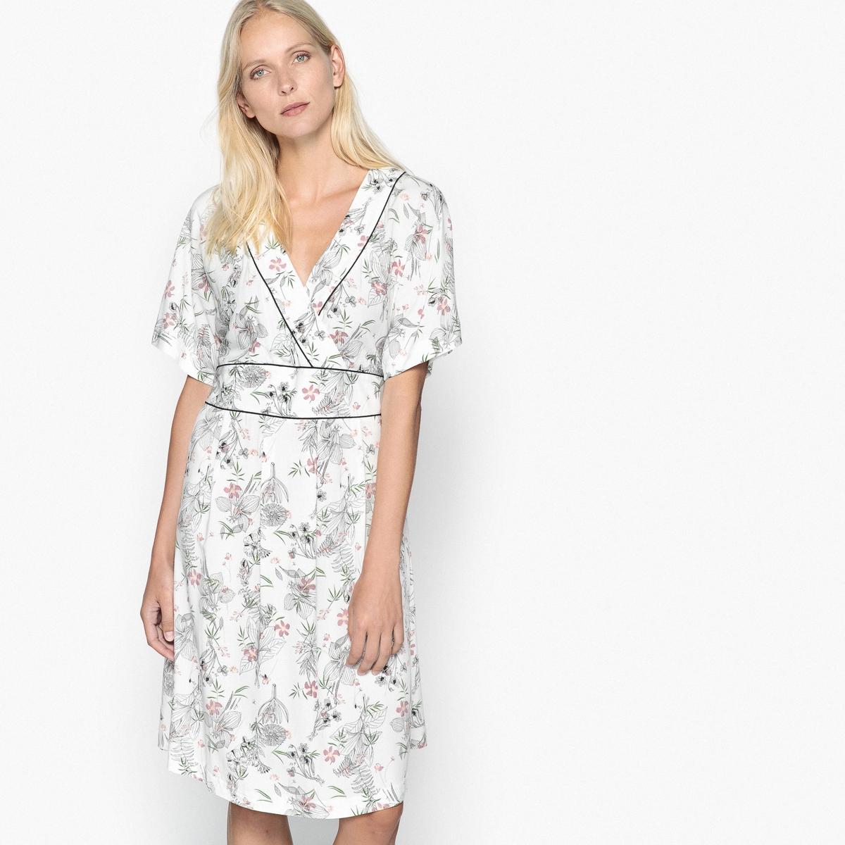 Imagen secundaria de producto de Vestido evasé estampado, semilargo - Anne weyburn