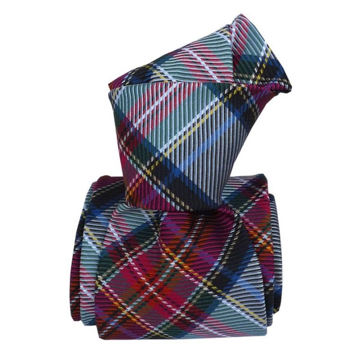 Cravate classique boretto. Soie carreaux