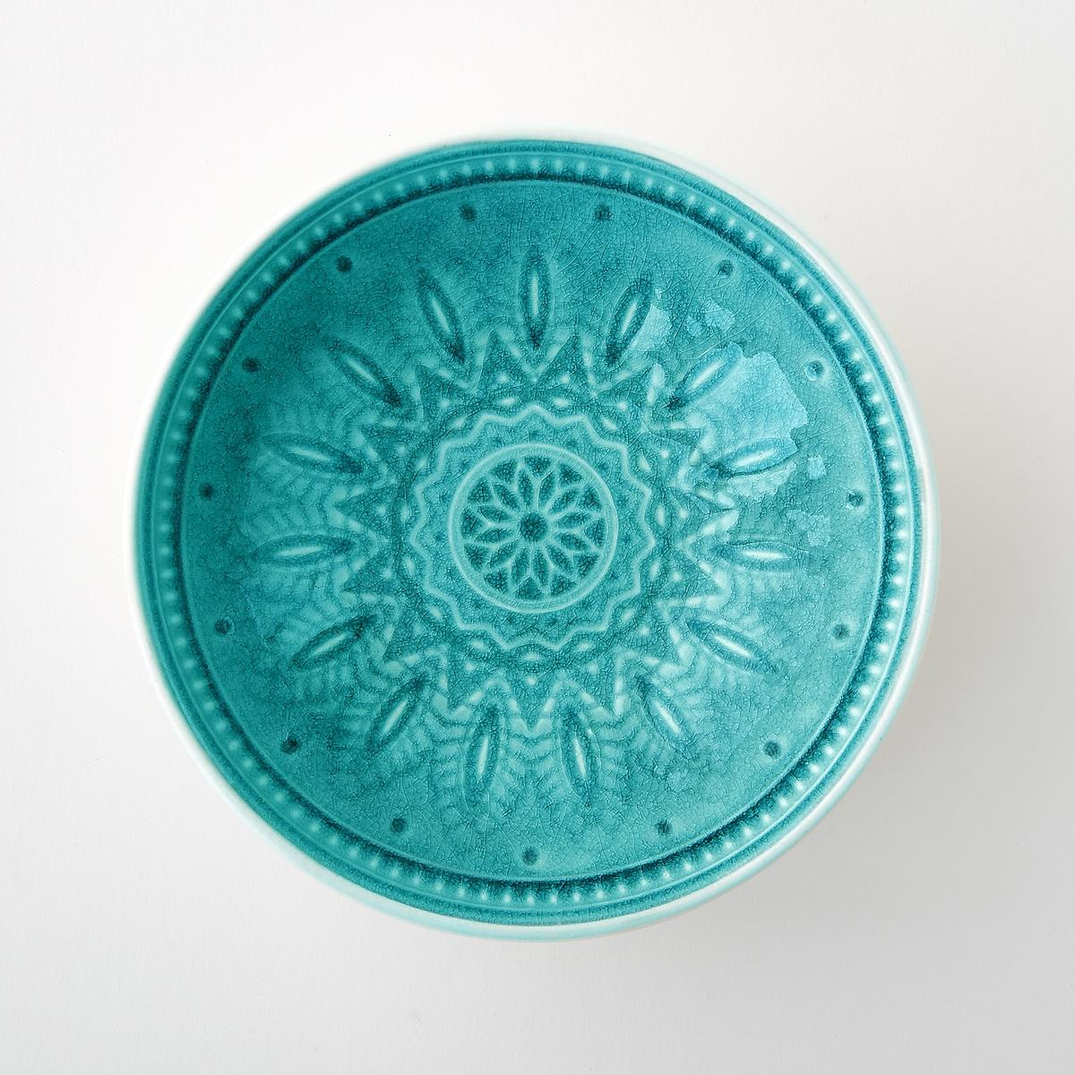 4 чаши керамических Nicolosi<br><br>Цвет: бирюзовый,серый<br>Размер: единый размер