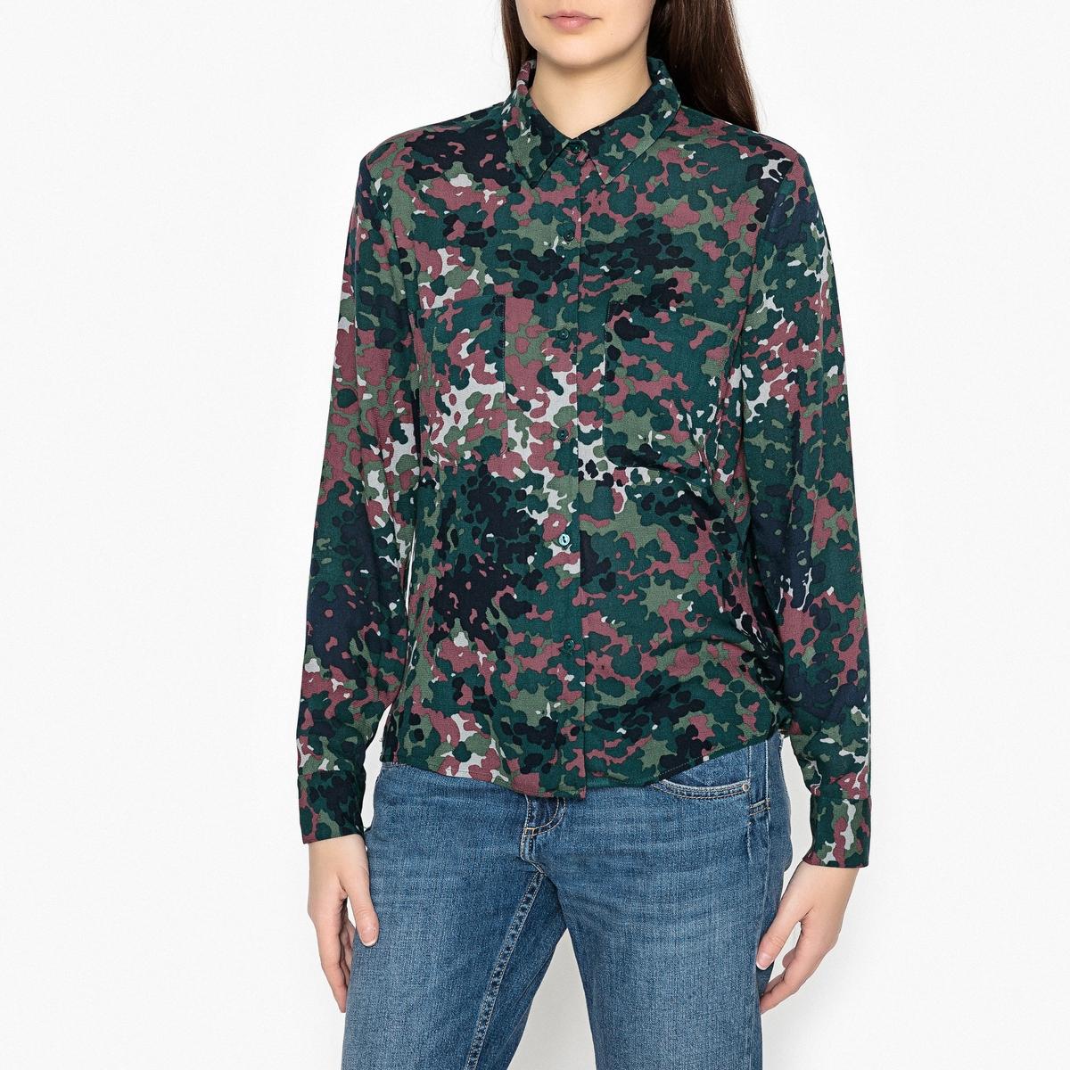 Рубашка с рисунком и длинными рукавами MILLY цена 2017
