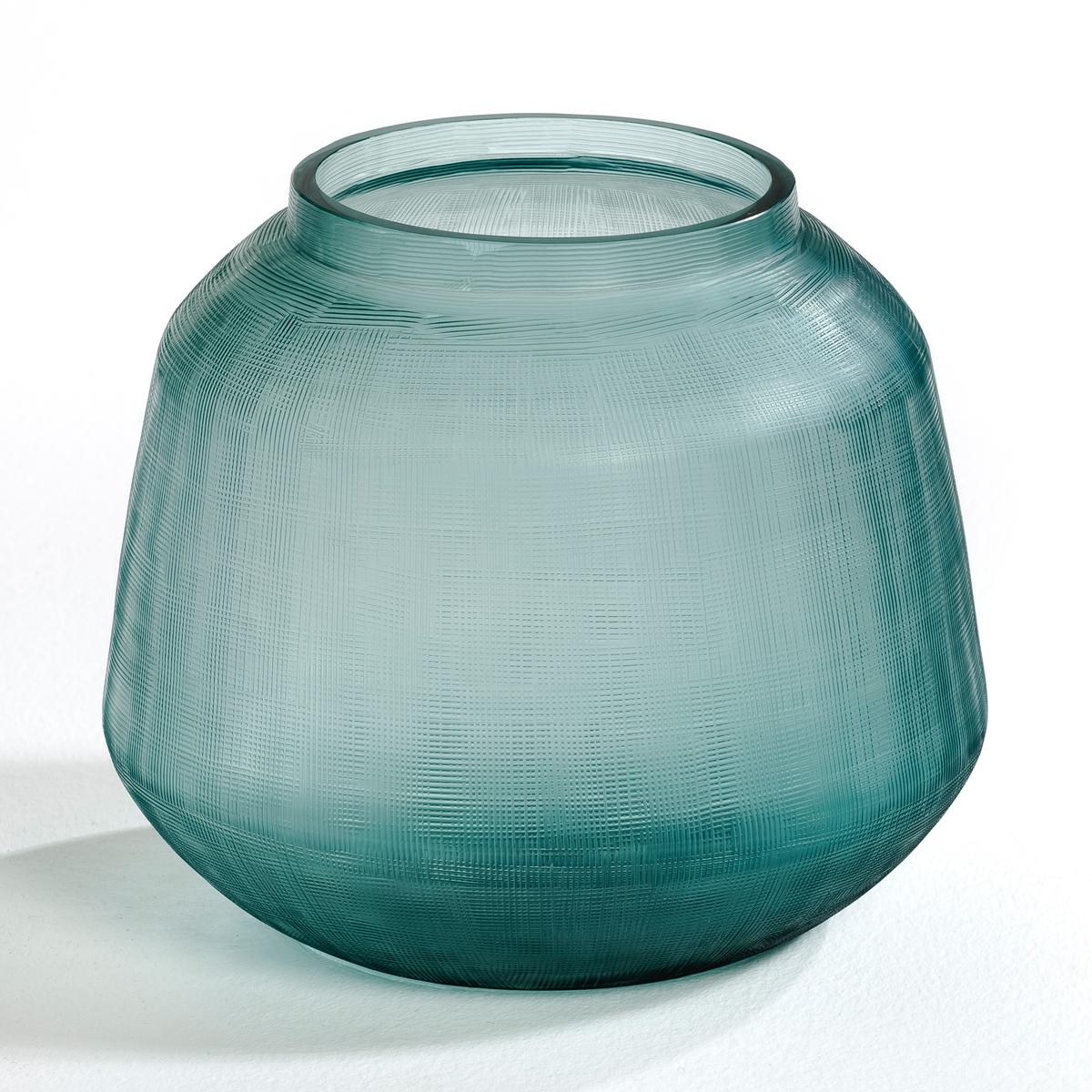 Ваза BirgitБольшая ваза из рифленого стекла.     Диаметр 23 x высота 20 см.<br><br>Цвет: зелено-синий<br>Размер: единый размер