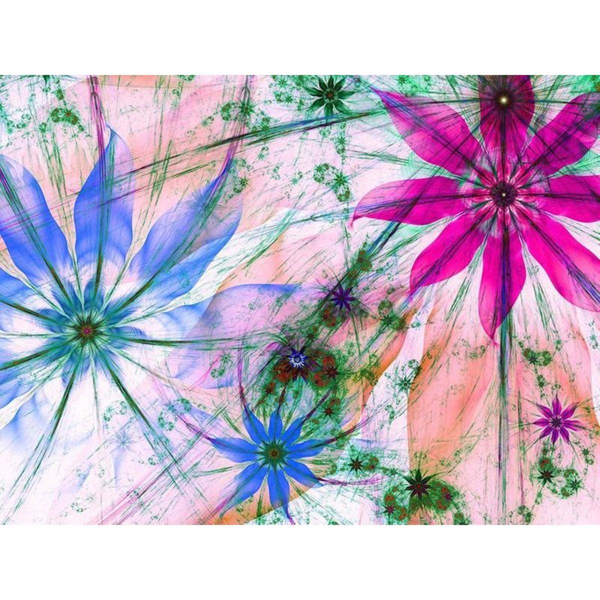 Flower silhouettes, photo murale intissée, 360x270 cm, 4 parts