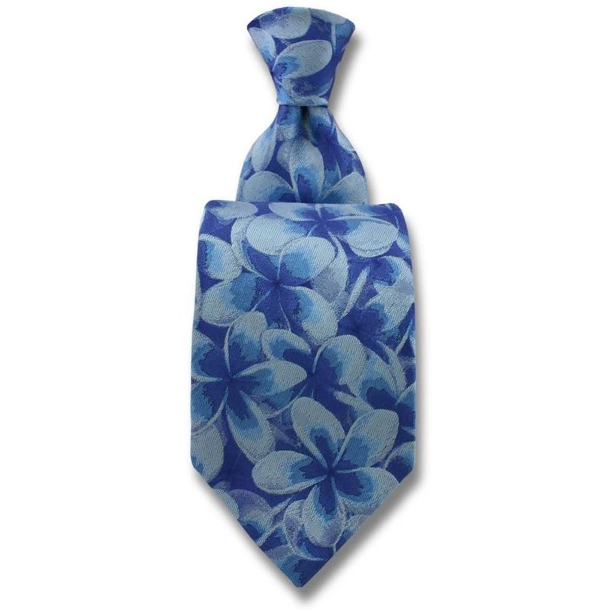 Cravate soie frangipani