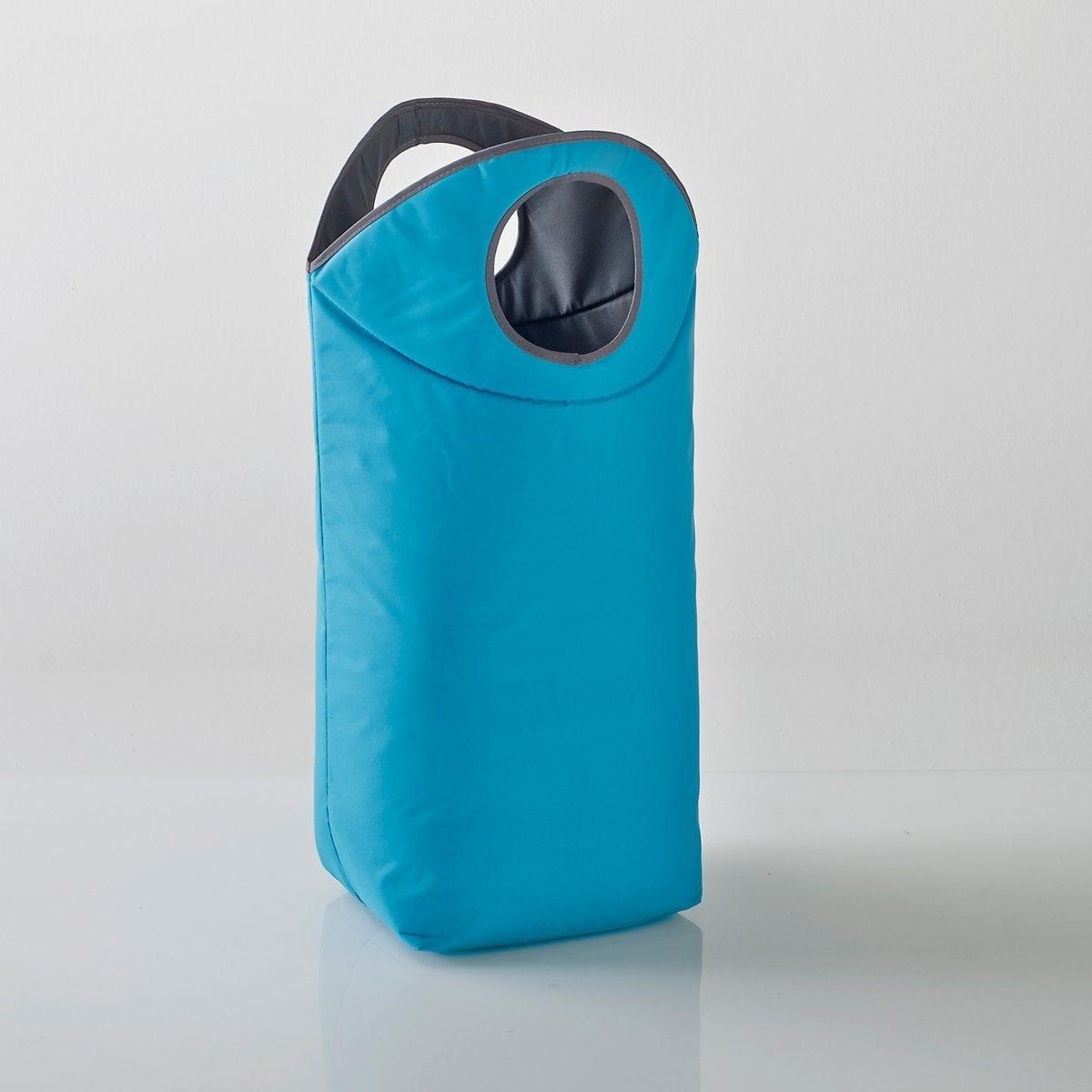 Корзина для белья или хранения.Характеристики корзины для белья или хранения:100% полиэстера. Двухцветные ручки, кант серого цвета.Размеры корзины для белья или хранения:Высота: 78 смШирина: 54 см.Глубина: 30 см.<br><br>Цвет: бирюзовый,темно-серый<br>Размер: единый размер