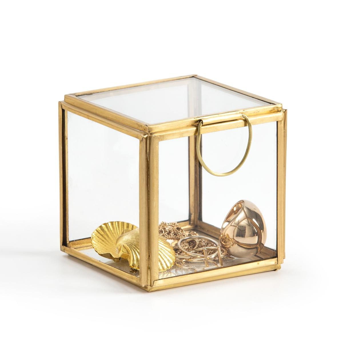 Коробка-витрина La Redoute Из стекла и латуни квадратная Uyova единый размер желтый бра la redoute из латуни и опалового стекла moricio единый размер белый