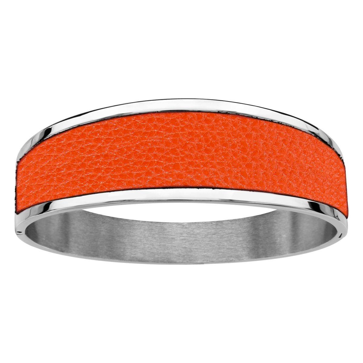 Bracelet Cuir Articulé Acier