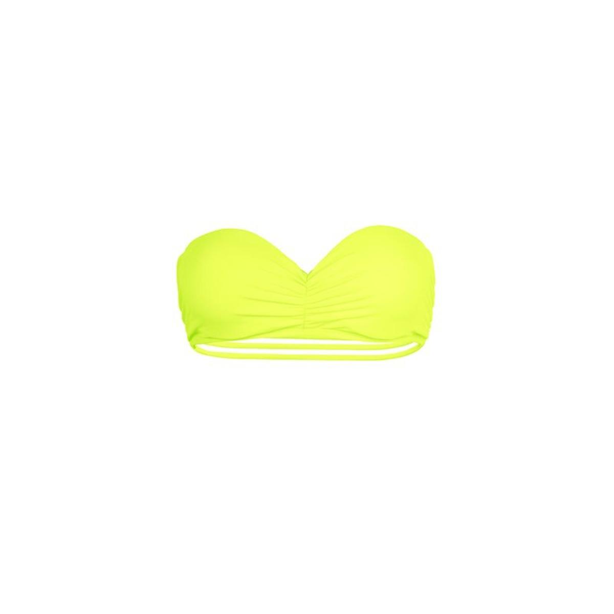Mon bandeau à liens Teenie Bikini jaune fluo (Haut)