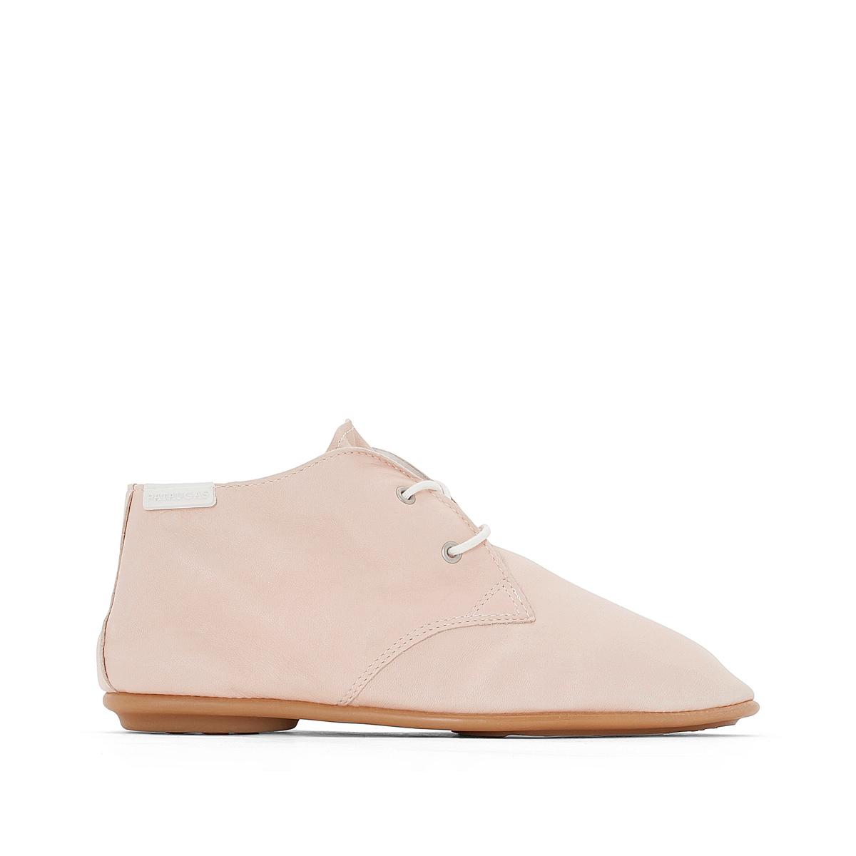 Ботинки кожаные Scoot/NВерх/Голенище : Кожа.  Подкладка : Кожа.  Стелька : Кожа.  Подошва : резина   Форма каблука : плоский каблук  Мысок : закругленный.  Застежка : шнуровка<br><br>Цвет: серый,телесный<br>Размер: 36.39