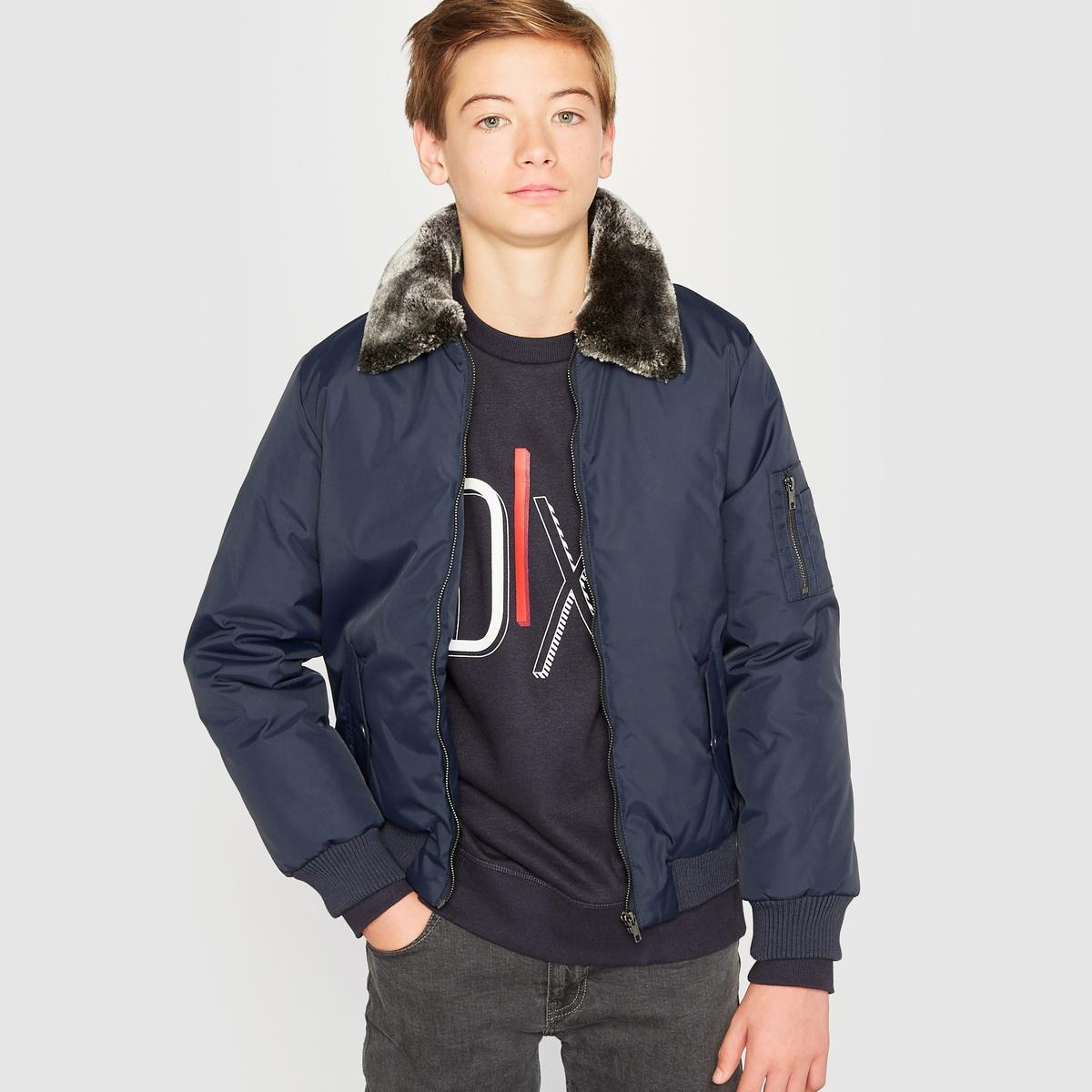 Куртка-пилот со съемным мехом 10-16 лет