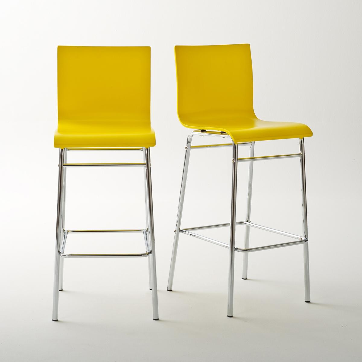 2 стула барных, JanikБарные стулья Janik на высоких ножках ! 4 модных цвета, которые можно сочетать, для более яркого эффекта  !Характеристики стульев Janik :Спинка и сиденье из фанеры, ПУ-лакировка  . Ножки из хромированной стальной трубки .Стулья продаются по 2 шт одного цвета.Барные стулья Janik продаются готовыми к сборке  Найдите высокий стол Janik, а также всю коллекцию Janik на нашем сайте  .ru.Размеры высоких стульев Janik :Общие :Ширина : 42 смВысота : 110 смГлубина : 50 см..Сиденье : Выс 75 см<br><br>Цвет: желтый,серо-коричневый