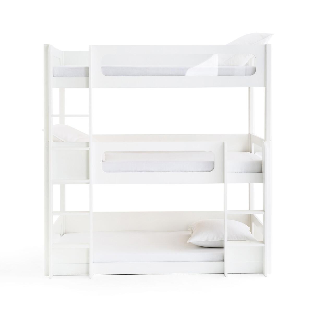 3 кровати LaRedoute Расположенные друг над другом Pilha 90 x 190 см белый
