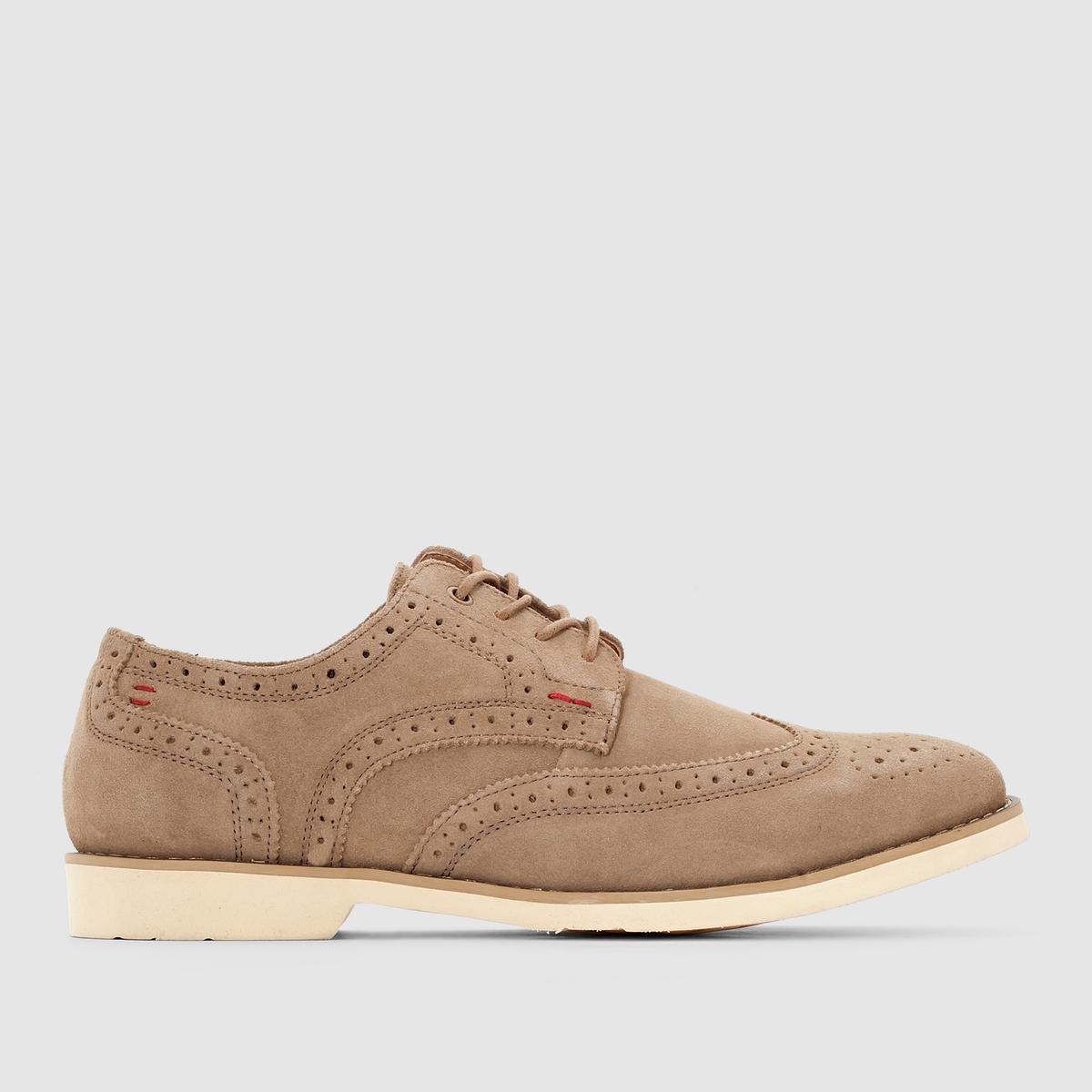 Ботинки-дерби кожаные HUSH PUPPIES FLOWERПреимущества : классический носок и небольшая прострочка. Независимо от вашего стиля, вы никогда не пропустите эти ботинки-дерби HUSH PUPPIES.<br><br>Цвет: бежевый<br>Размер: 41