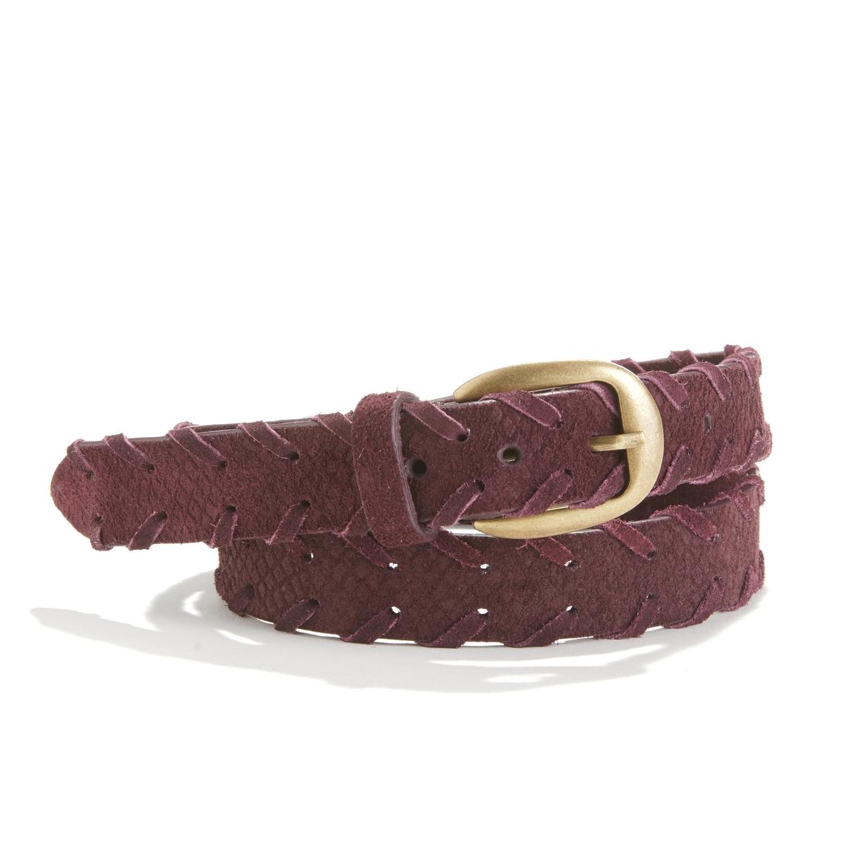 Cinturón de piel, cordón fantasía