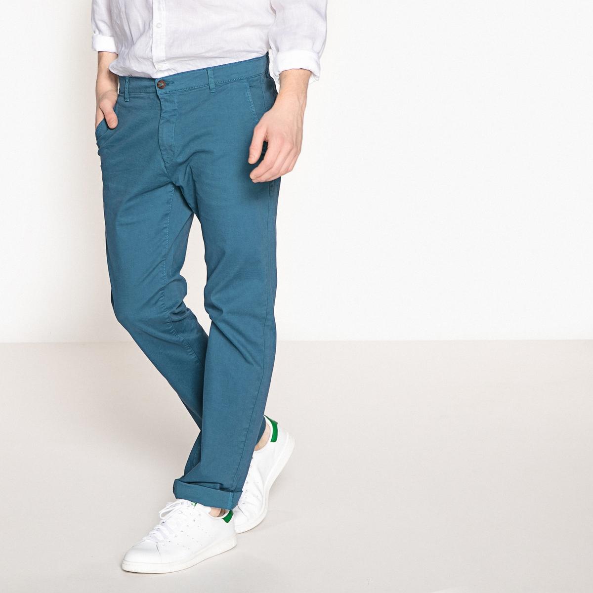 Брюки-чино La Redoute Прямого покроя ALEXIS 36 (FR) - 42 (RUS) синий брюки чино la redoute la redoute 38 fr 44 rus синий